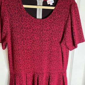 EUC 2X Lularoe pink Amelia dress